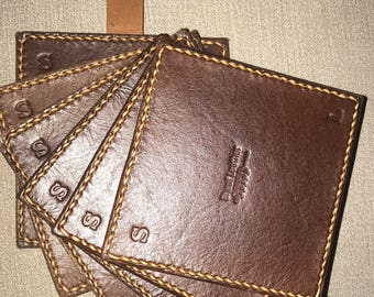 Leather Coasters - set of 6