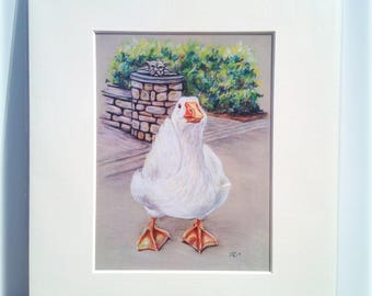 Clarence on Guard, A5 Print from original Pastel drawing