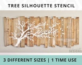 Tree Silhouette Stencil - 3 Different Sizes