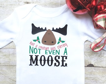 Baby Boy Christmas Onesie, Newborn Christmas Onesie, Christmas Moose Onesie, Baby Boy Bodysuit, Newborn Christmas Clothes, New Mom Gift