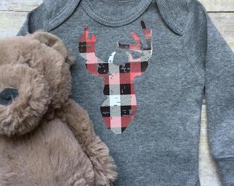 Baby Boy Onesie, Baby Clothes, Country Boy Onesie, Southern Onesie, Newborn Baby Clothes, Baby Boy Newborn Onesie, Deer-head Onesie