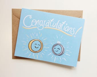 Congratulations Rings | Wedding card | Engagement card
