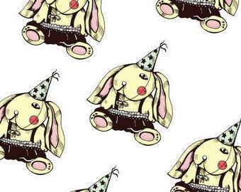 Party Hat Rabbit Sticker/Cute Stickers/Original Handmade Stickers/Animal sticker/Yeti Sticker/Kawaii Vinyl Sticker
