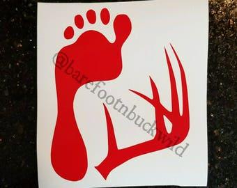 Barefoot & Buckwild Logo Decal