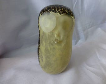 Vintage Wedgewood Sommerso Glass Owl Paperweight, Collectible Paperweight, Wedgewood Paperweight , Collectible Glass Owl,Gift Ideas.