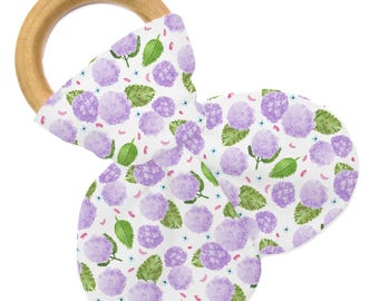 Non Personalized Teether - Happy Hydrangea