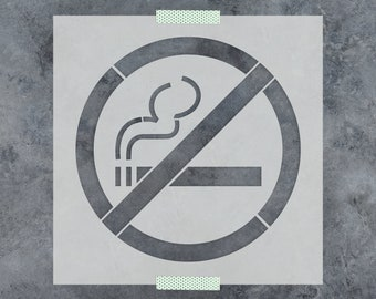 No Smoking Stencil - Reusable DIY Craft Stencils of a No Smoking Symbol
