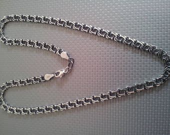 HANDMADE silver necklace chain