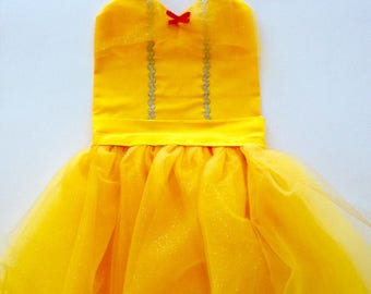 BEAUTY And The BEAST COSTUME | Belle Dress | Belle Costume | Dress Up Apron | Disney Inspired | Belle Birthday
