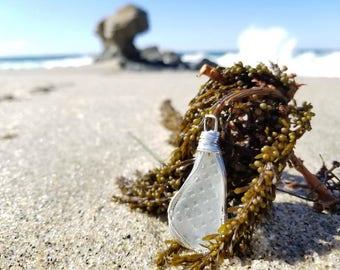 Textured Sea Glass Pendant