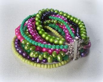 MULTI STRAND BRACELET ... stylish and colorful statement bracelet