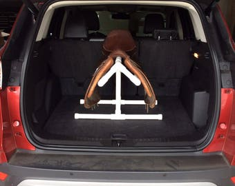 Yellow Cool PVC Saddle Rack For Car/Trunk/Back Seat/Hatchback - EZ on Saddle Tree - Cool Yellow color - SPECIAL Order only