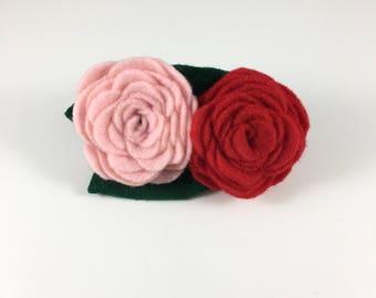 Pretty Rose Collar Accessory