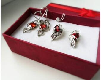 Silver Earings with Zircon Jewerly