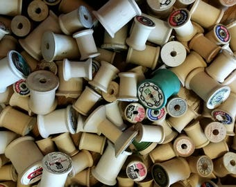 Vintage Wooden Sewing Thread Spools