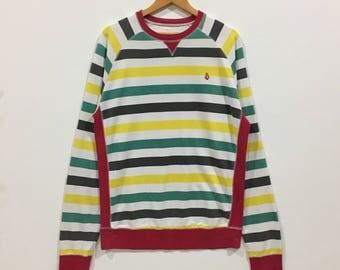 Rare !!! Volcom stripe multicolour sweatshirt