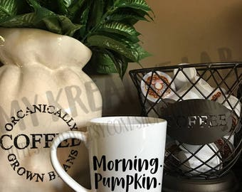 Morning. Pumpkin. Coffee Mug Decal - DIY