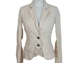 Calvin Klein cotton beige jacket blazer size M 2000s women's