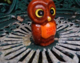 Owl Candle c 1970s 'Somone Special', Wide Eyed Owl, Birds, Candles, Light, Candlelight