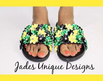 Handmade Floral Sandals