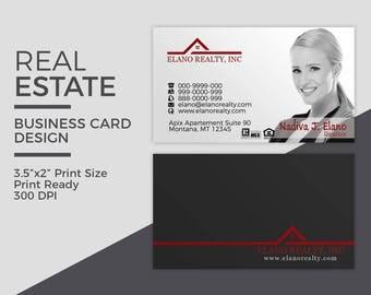 Real Estate Business Card Design - Realtor Business Card - Brokerage Business Card - Custom Design