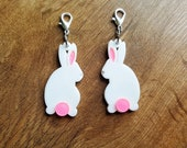 Rabbit Planner Charm// Large Rabbit Planner Charm// Rabbit Key Chain