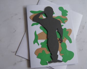 """Father's Day 3D Card """"Soldier"""""""