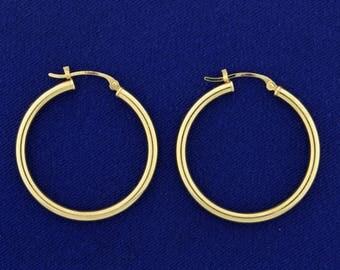 1 Inch Diameter Hoop Earrings