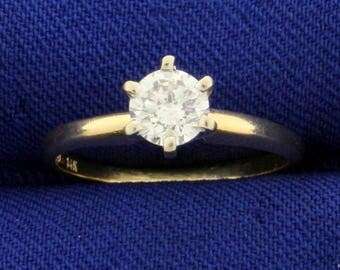 Solitaire Diamond Engagement Ring .45ct