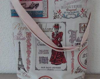 Paris themed shoulder bag