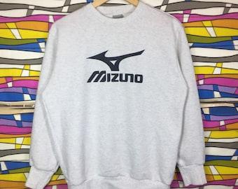 Rare!! Vintage MIZUNO Sweatshirt Big Logo Spellout