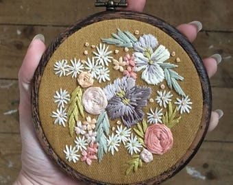 Embroidered english garden