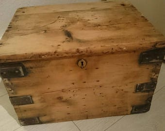 Lovely Vintage Wooden box with Metal Handles