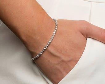 1.68ct Diamond Line Bracelet in 18ct White Gold G Colour SI Clarity