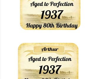 Personalised Wine Labels