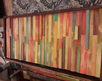 Reclaimed wood art. Relaxing colors