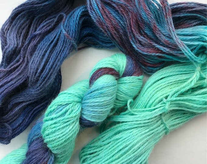 """Sea Turtle"" 100g Superfine Alpaca / Silk Aran Yarn"