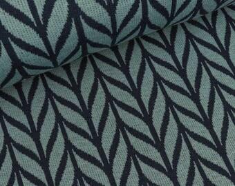 Hamburg love 2 color Jacquardjersey Maxi knit garda-blue navy (22.90 EUR / meter)