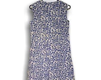 1960s Day Dress Handmade Dresses Women   Sleeveless Linen Dress Cotton Dress   Casual Dress Summer Dresses   Vintage Sleeveless Dress