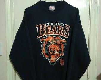 Vintage Chicago Bear's sweater crew neck sz XL