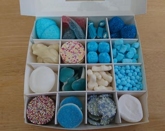 Sweet Chocolate Filled Gift Box Blue Theme