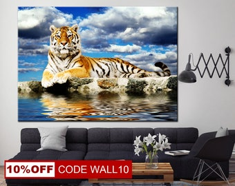 Tiger canvas, Tiger Wall Art, Wild Animals, Animals Multi Panel, Zoo animal canvas, Animal photography, Tiger print, Wild Tiger Canvas