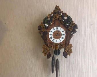"""NEW! Vintage Soviet Cuckoo Clock """"Cocks"""""""