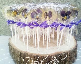 Wedding Flower Lollipop 50 set