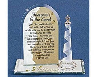 Glass Baron Footprints in the Sand Figurine