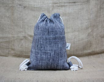 Backpack Sack Bag backbag backpack fabric Canvas Technical backpack sports Beutel handmade laptop Gym Yoga travel DrawString Bag