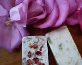 Love Draw Herbal Blend Soap from The Cunning Toad Magick Soap for drawing love and affection (sold as curio)