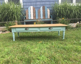 Ethan Allen Classic Manor Two Drawer Coffee Table