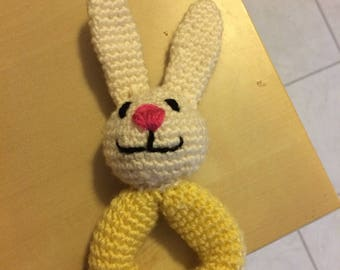 Crochet Rabbit Baby Rattle