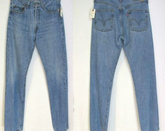 90s Levis 501/  32 / 8-10 Button Fly,  90s Classic Straight Leg Jeans 32 x 36